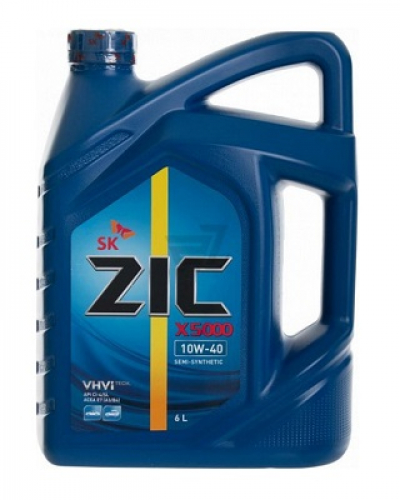 Zic Х5000 полусинтетика 10W-40 6 л.